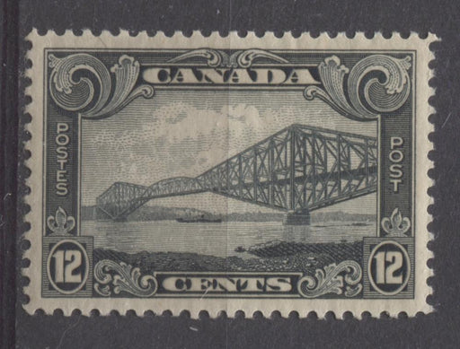 Canada #156 (SG#282) 12c Slate Quebec Bridge 1928 Scroll Issue GEM-100 LH Brixton Chrome