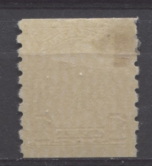 Canada #160 (SG#286) 1c Orange King George V 1928 Scroll Issue Coil Paper With No Mesh VF-75 OG Brixton Chrome
