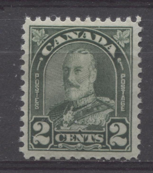 Canada #164 (SG#290) 2c Deep Green King George V 1930-35 Arch Issue Cream Gum VF-80 OG Brixton Chrome