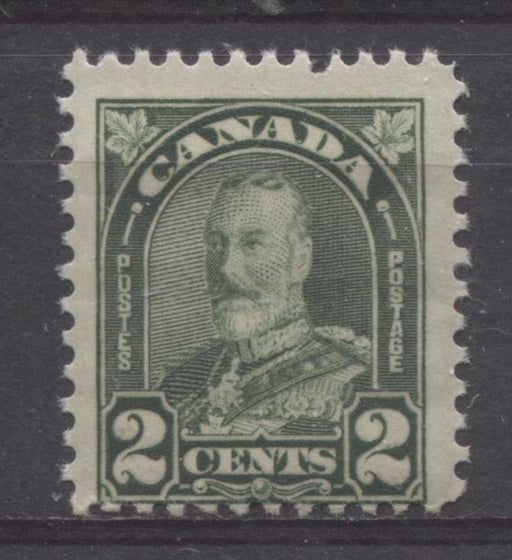 Canada #164 (SG#290) 2c Deep Yellowish Green King George V 1930-35 Arch Issue Cream Gum F-65 NH Brixton Chrome