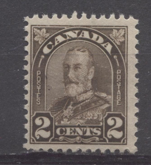 Canada #166 (SG#292b) 2c Blackish Brown King George V 1930-35 Arch Issue Die 2 F-70 NH Brixton Chrome