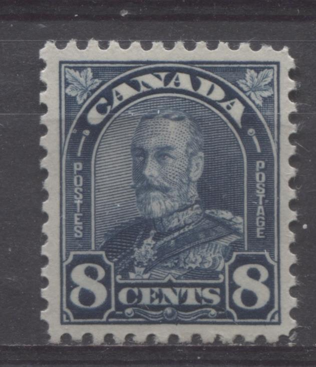Canada #171 (SG#297) 8c Deep Prussian Blue King George V 1930-35 Arch Issue Cream Gum VF-80 LH Brixton Chrome