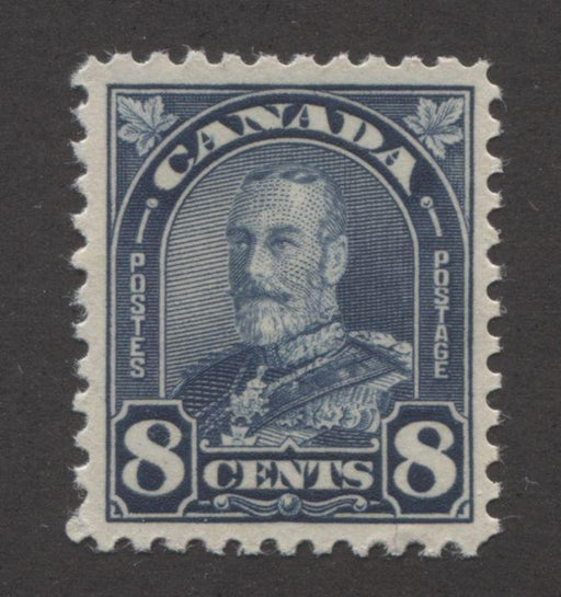 Canada #171 (SG#297) 8c Deep Prussian Blue King George V 1930-35 Arch Issue Cream Gum VF-80 NH Brixton Chrome