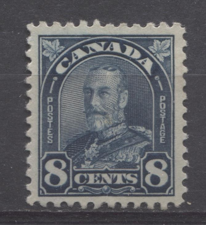 Canada #171 (SG#297) 8c Deep Prussian Blue King George V 1930-35 Arch Issue Cream Gum VF-82 LH Brixton Chrome