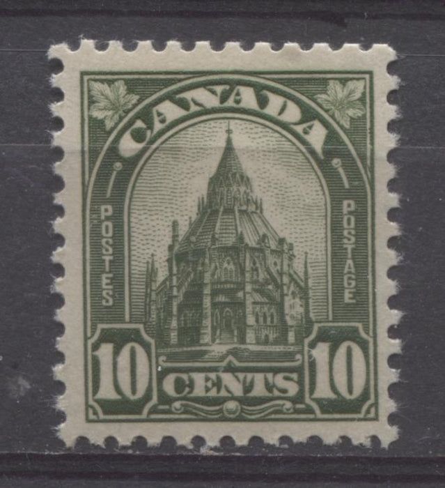 Canada #173 (SG#299) 10c Deep Bright Olive Library 1930-35 Arch Issue Deep Cream Gum VF-75 NH Brixton Chrome