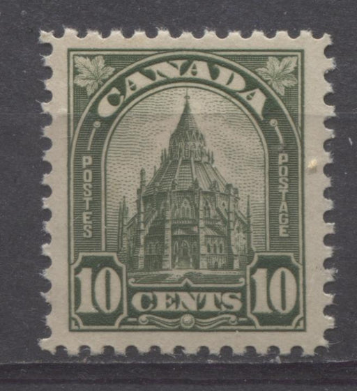 Canada #173 (SG#299) 10c Deep Olive Parliamentary Library 1930-35 Arch Issue Deep Cream Gum VF-84 LH Brixton Chrome