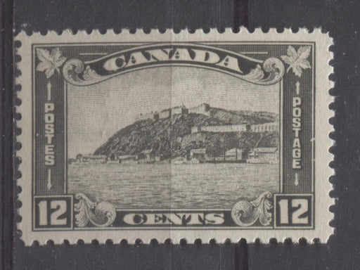 Canada #174 (SG#300) 12c Grey Black Quebec Citadel 1930-35 Arch Issue Cream Gum VF-80J NH Brixton Chrome