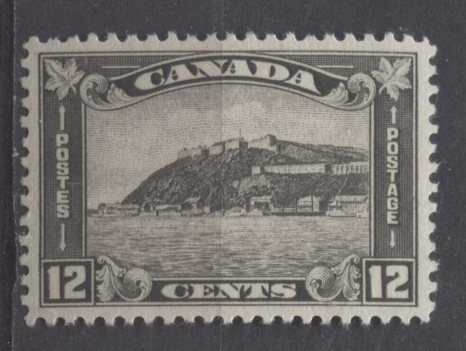Canada #174 (SG#300) 12c Grey Black Quebec Citadel 1930-35 Arch Issue Cream Gum XF-92 LH Brixton Chrome