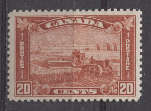 Canada #175 (SG#301) 20c Brownish Vermilion Harvesting Wheat 1930-35 Arch Issue VF-75 NH Brixton Chrome