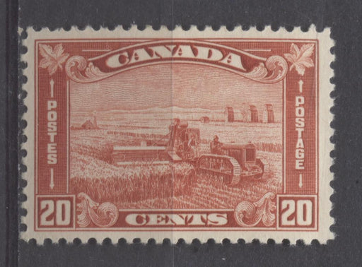 Canada #175 (SG#301) 20c Brownish Vermilion Harvesting Wheat 1930-35 Arch Issue VF-75 OG Brixton Chrome