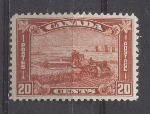 Canada #175 (SG#301) 20c Brownish Vermilion Harvesting Wheat 1930-35 Arch Issue VF-80 OG Brixton Chrome