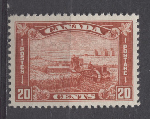 Canada #175 (SG#301) 20c Brownish Vermilion Harvesting Wheat 1930-35 Arch Issue VF-80J LH Brixton Chrome