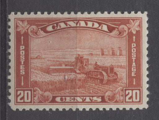 Canada #175 (SG#301) 20c Brownish Vermilion Harvesting Wheat 1930-35 Arch Issue VF-84 OG Brixton Chrome