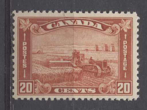 Canada #175 (SG#301) 20c Deep Bright Indian Red Harvesting Wheat 1930-35 Arch Issue VF-75 NH Brixton Chrome