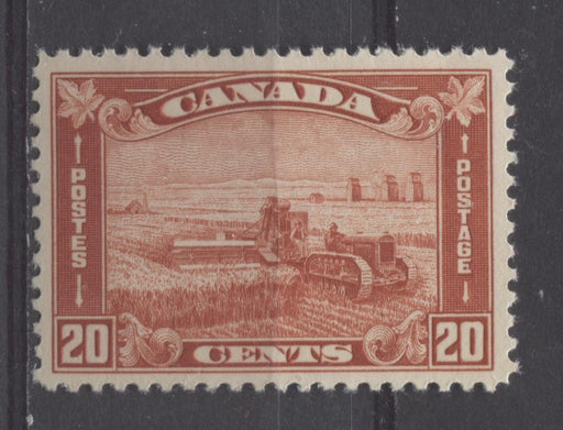 Canada #175 (SG#301) 20c Deep Bright Indian Red Harvesting Wheat 1930-35 Arch Issue VF-80 NH Brixton Chrome