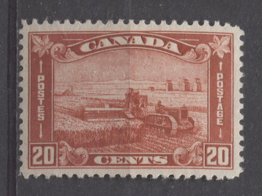 Canada #175 (SG#301) 20c Deep Brownish Vermilion Harvesting Wheat 1930-35 Arch Issue VF-80 OG Brixton Chrome