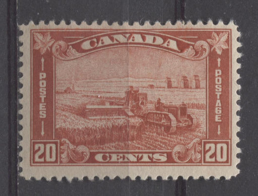 Canada #175 (SG#301) 20c Deep Indian Red Harvesting Wheat 1930-35 Arch Issue F-70 OG Brixton Chrome
