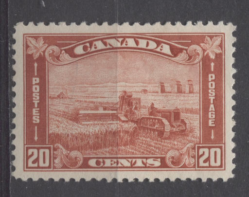 Canada #175 (SG#301) 20c Deep Indian Red Harvesting Wheat 1930-35 Arch Issue F-74-J LH Brixton Chrome