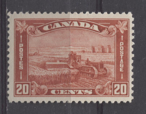 Canada #175 (SG#301) 20c Deep Indian Red Harvesting Wheat 1930-35 Arch Issue VF-75 LH Brixton Chrome