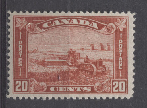 Canada #175 (SG#301) 20c Deep Indian Red Harvesting Wheat 1930-35 Arch Issue VF-75 OG Brixton Chrome
