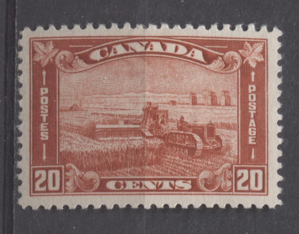 Canada #175 (SG#301) 20c Deep Indian Red Harvesting Wheat 1930-35 Arch Issue VF-80 OG Brixton Chrome