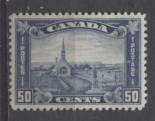 Canada #176 (SG#302) 50c Prussian Blue Grand Pre 1930-35 Arch Issue Deep Cream VF-82 OG Brixton Chrome