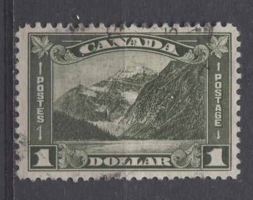 Canada #177 (SG#303) Bronze Green Mt. Edith Cavell 1930-35 Arch Issue VF-75 Used Brixton Chrome