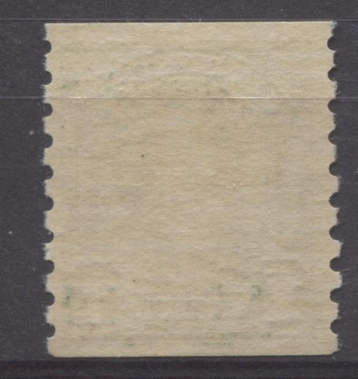 Canada #179 (SG#305) 1c Bottle Green 1930-32 Arch Issue Coil Cream Gum Smudged 1 VF-80 LH Brixton Chrome