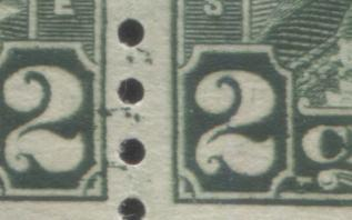 Canada #180 2c Yellowish Green King George V, 1930-1935 Arch Issue, A Fine OG Coil Pair Showing a Portion of the Adjoining Stamps in the Bottom Margin Brixton Chrome