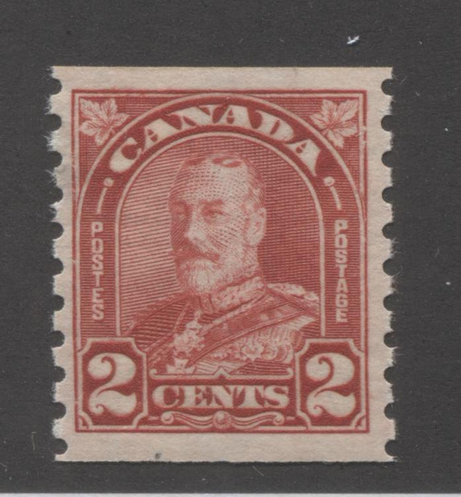 Canada #181 2c Scarlet, King George V 1930-1935 Arch Issue Very Fine Mint NH Coil Single Brixton Chrome