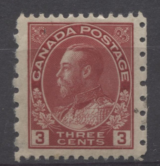 Canada #184 (SG#263) 3c Dark Rose Red 1931 Admiral Provisional Perf 12x8 F-70-J OG Brixton Chrome