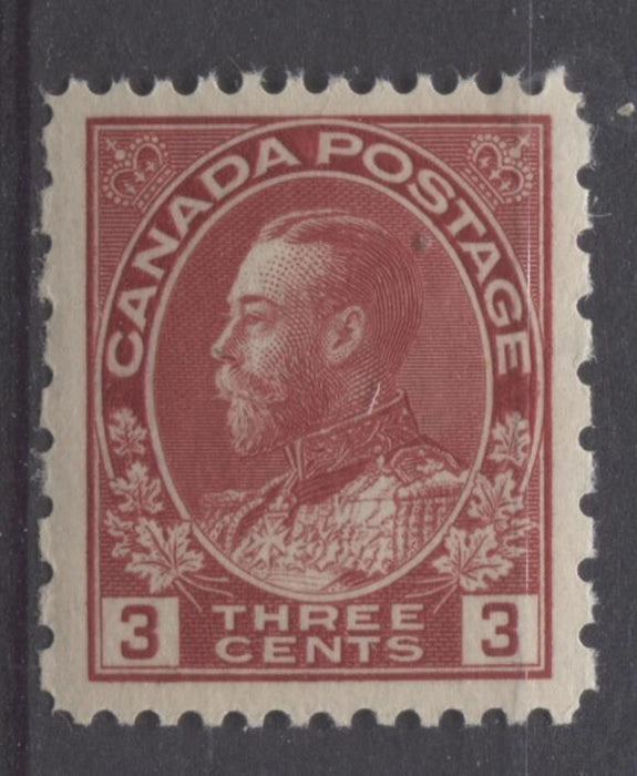Canada #184 (SG#263) 3c Dark Rose Red 1931 Admiral Provisional Perf 12x8 VF-75 NH Brixton Chrome