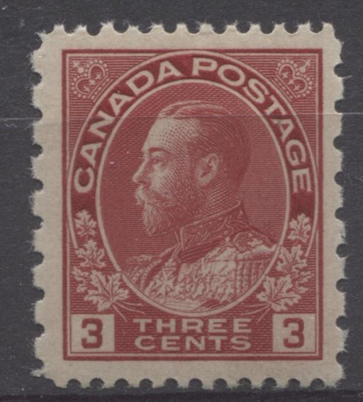 Canada #184 (SG#263) 3c Dark Rose Red 1931 Admiral Provisional Perf 12x8 VF-80-J NH Brixton Chrome