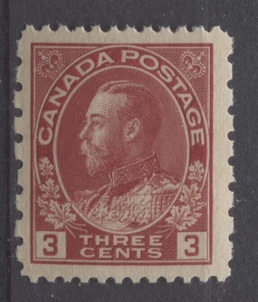 Canada #184 (SG#263) 3c Dark Rose Red 1931 Admiral Provisional Perf 12x8 VF-80 NH Brixton Chrome