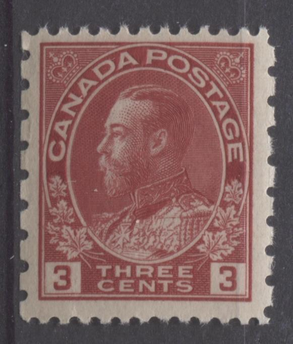 Canada #184 (SG#263) 3c Deep Bright Rose Red 1931 Admiral Provisional Perf 12x8 VF-75 NH Brixton Chrome