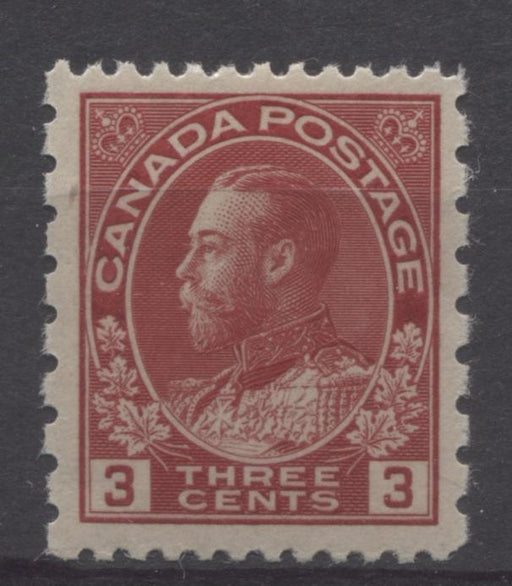 Canada #184 (SG#263) 3c Deep Bright Rose Red 1931 Admiral Provisional Perf 12x8 VF-78 NH Brixton Chrome