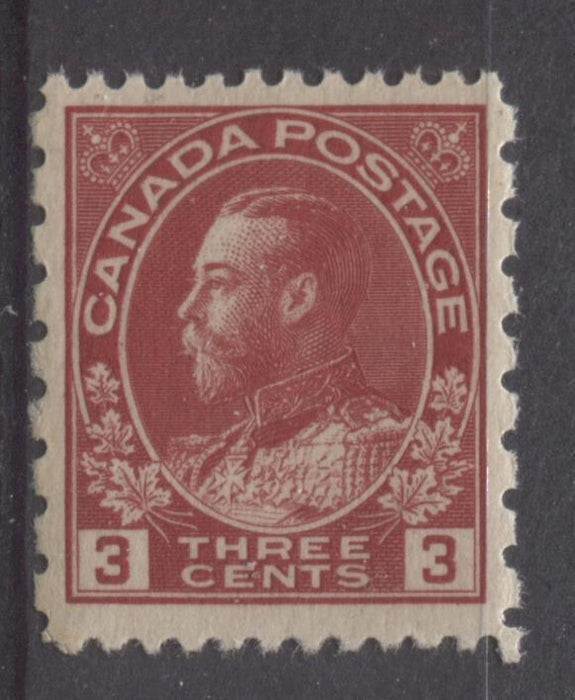 Canada #184 (SG#263) 3c Deep Bright Rose Red 1931 Admiral Provisional Perf 12x8 VF-80 NH Brixton Chrome