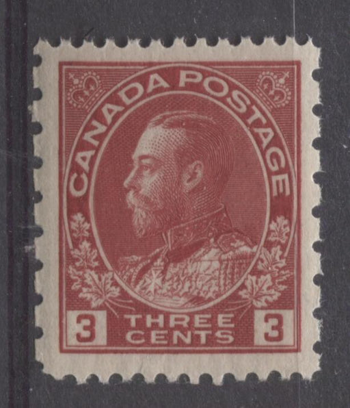 Canada #184 (SG#263) 3c Deep Bright Rose Red 1931 Admiral Provisional Perf 12x8 VF-80J NH Brixton Chrome