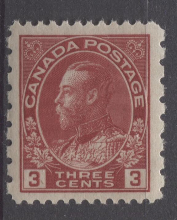 Canada #184 (SG#263) 3c Deep Bright Rose Red 1931 Admiral Provisional Perf 12x8 VF-84 NH Brixton Chrome