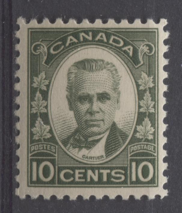 Canada #190 (SG#312) 10c Deep Olive 1931-32 Georges Etienne Cartier Br Cream Gum VF-75 NH Brixton Chrome
