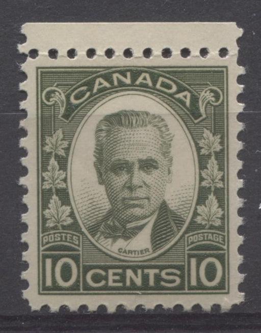 Canada #190 (SG#312) 10c Olive Green 1931-35 Georges Etienne Cartier Deep Cream Gum VF-84 NH Brixton Chrome