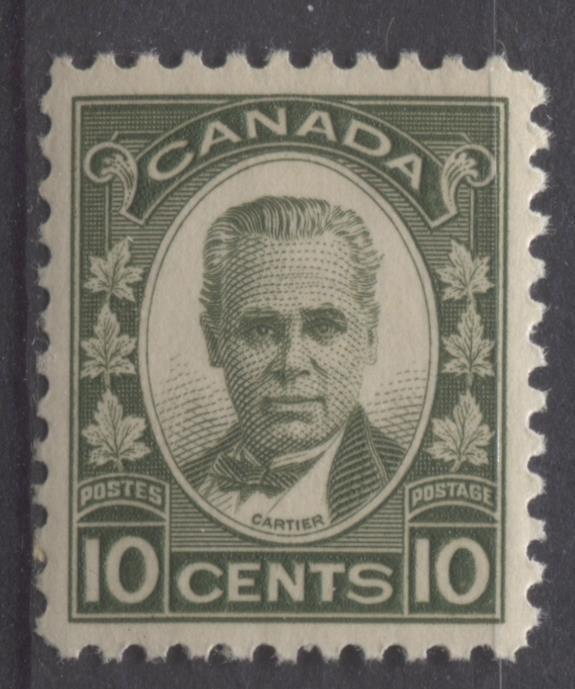 Canada #190 (SG#312) 10c Olive Green 1933 Georges Etienne Cartier Deep Cream Gum VF-82 NH Brixton Chrome