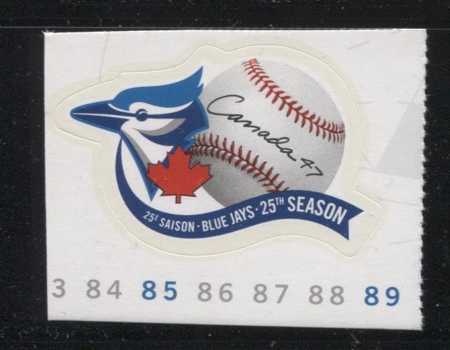 Canada #1901 (SG#2073) 47c 2001 Toronto Blue Jays Booklet Single LF/HF Paper VF-84 NH Brixton Chrome