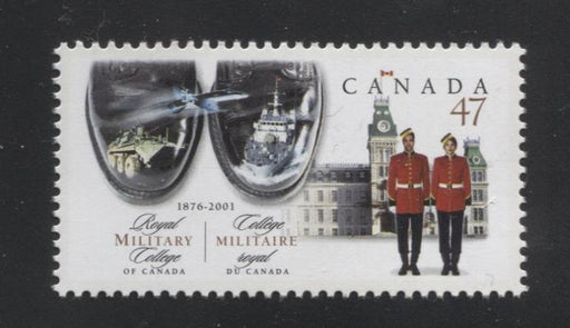 Canada #1906 (SG#2086) 47c Royal Military College 125th Anniversary NF/NF Paper - VF-80 NH Brixton Chrome