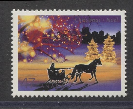 Canada #1922 (SG#2110) 47c 2001 Christmas Lights Issue NF/DF Paper VF-80 NH Brixton Chrome