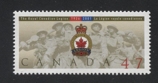 Canada #1926 (SG#2114) 47c Royal Canadian Legion Issue NF/DF Paper VF-84 NH Brixton Chrome