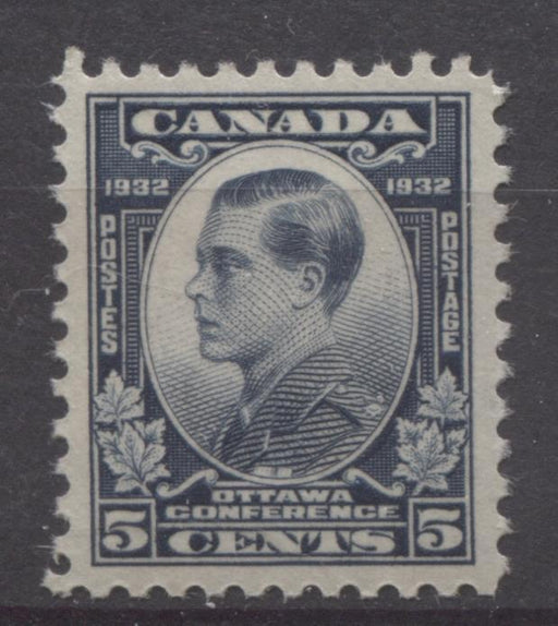 Canada #193 (SG#316) 5c Steel Blue 1932 Ottawa Conference Deep Cream Gum VF-84 LH Brixton Chrome