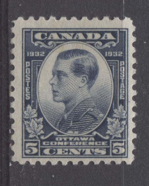 Canada #193 (SG#316) 5c Steel Blue 1932 Ottawa Conference Yellowish Cream Gum F-70 OG Brixton Chrome