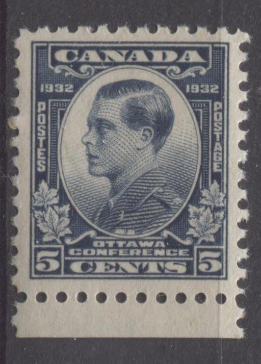Canada #193 (SG#316) 5c Steel Blue 1932 Ottawa Conference Yellowish Cream Gum VF-75 NH Brixton Chrome