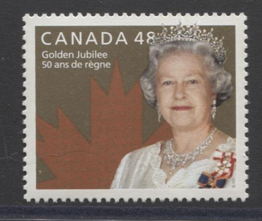 Canada #1932 (SG#2115) 48c Golden Jubilee Issue NF/DF Paper Weak Tag VF-84 NH Brixton Chrome